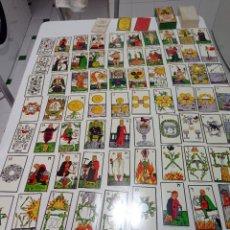 Barajas de cartas: ANTIGUA BARAJA EL GRAN TAROT ESOTÉRICO 78 CARTAS HERACLIO FOURNIER COMPLETA. Lote 294123028