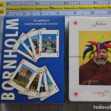 Barajas de cartas: BARAJA DE CARTAS DE PÓKER. BORNHOLM, ISLA DE DINAMARCA. CADA NAIPE UNA FOTO POSTAL. PRECINTADA 100GR. Lote 295441003