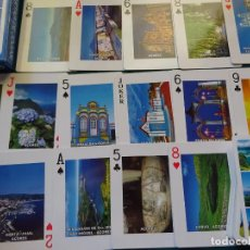 Barajas de cartas: BARAJA DE CARTAS DE PÓKER. ISLAS AZORES, PORTUGAL. CADA NAIPE UNA FOTO POSTAL. 100GR. Lote 295441223