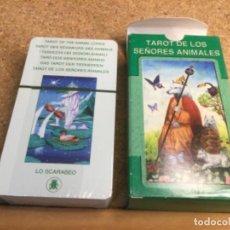 Barajas de cartas: BARAJA - ( LO SCARABEO ) CARTAS TAROT DE LOS SEÑORES ANIMALES ( NUEVA Y PRECINTADA ) REF 1. Lote 296735393