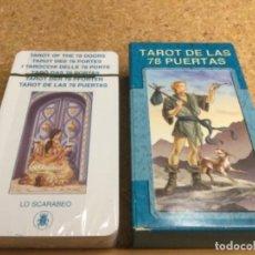 Barajas de cartas: BARAJA - ( LO SCARABEO ) CARTAS TAROT DE LAS 78 PUERTAS -( NUEVA Y PRECINTADA ) REF 2. Lote 296735658