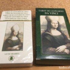 Barajas de cartas: BARAJA - ( LO SCARABEO ) CARTAS TAROT DE LEONARDO DA VINCI -( NUEVA Y PRECINTADA ) REF 9. Lote 296738628