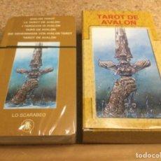 Barajas de cartas: BARAJA - ( LO SCARABEO ) CARTAS - TAROT DE AVALON -( NUEVA Y PRECINTADA ) REF 14. Lote 296740368