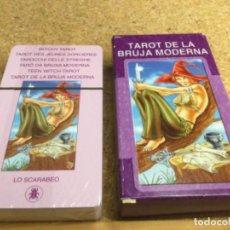 Barajas de cartas: BARAJA - ( LO SCARABEO ) CARTAS - TAROT DE LA BRUJA MODERNA -( NUEVA Y PRECINTADA ) REF 15. Lote 296740853