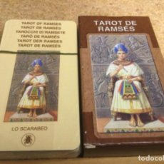Barajas de cartas: BARAJA - ( LO SCARABEO ) CARTAS - TAROT DE RAMSÉS -( NUEVA Y PRECINTADA ) REF 17. Lote 296741818