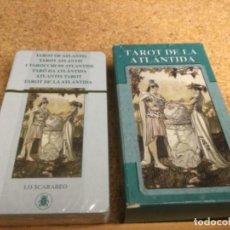 Barajas de cartas: BARAJA - ( LO SCARABEO ) CARTAS - TAROT DE LA ATLÁNTIDA -( NUEVA Y PRECINTADA ) REF 19. Lote 296742783