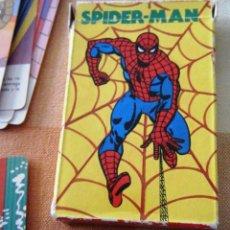 Barajas de cartas: JUEGO DE CARTAS DE SPIDERMAN, AÑO 1980. Lote 296781863