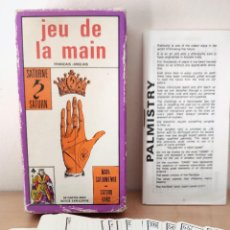 Barajas de cartas: JEU DE LA MAIN PALMISTRY RARO TAROT ANTIGUAS CARTAS DE QUIROMANCIA - ADIVINACIÓN CARTOMANCIA GRIMAUD. Lote 297058418