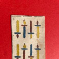 Barajas de cartas: ANTIGUO NAIPE DEL SIGLO XVIII - CARTA -CARTAS - BARAJA ESPAÑOLA. Lote 297248988