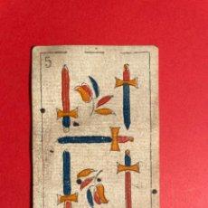 Barajas de cartas: ANTIGUO NAIPE DEL SIGLO XVIII - CARTA -CARTAS - BARAJA ESPAÑOLA. Lote 297249013