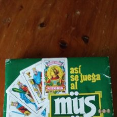 Barajas de cartas: CARTAS HERACLIO FOURNIER JUEGO DE MUS COMPLETO Y ORIGINAL DEL AÑO 1986 ESTUPENDO ESTADO VER FOTOS. Lote 297253868