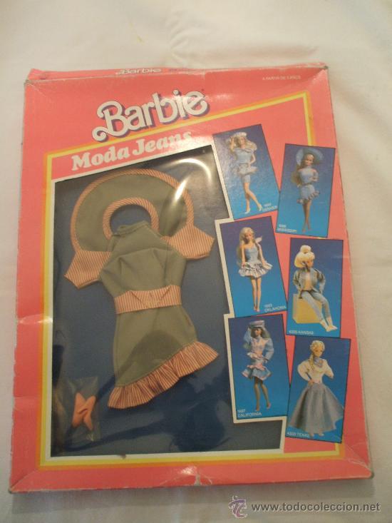 SET DE ROPA BARBIE MODA JEANS 1988 (Juguetes - Muñeca Extranjera Moderna - Barbie y Ken - Vestidos y Accesorios)