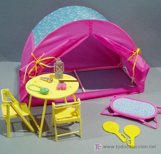 muebles barbie. juego de camping. tienda de cam - Comprar Barbie y ...