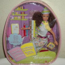 Barbie y Ken: TERESA DE BARBIE,CAJA ORIGINAL(MOCHILA),MATTEL,AÑO 2000,A ESTRENAR. Lote 24374320