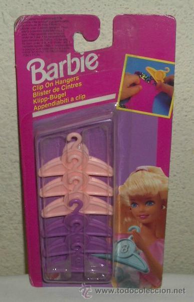PERCHAS DE BARBIE,MATTEL,AÑO 1994,BLISTER ORIGINAL,A ESTRENAR (Juguetes - Muñeca Extranjera Moderna - Barbie y Ken - Vestidos y Accesorios)
