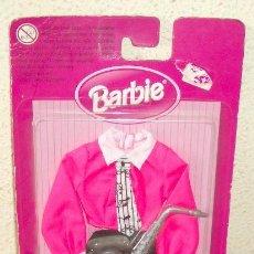 Barbie y Ken: VESTIDO DE BARBIE SAXOFINISTA,MATTEL,BLISTER,A ESTRENAR. Lote 26378086