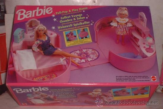 BARBIE CASA MALETIN SORPRESA, DE MATTEL, EN CAJA. CC (Juguetes - Muñeca Extranjera Moderna - Barbie y Ken - Vestidos y Accesorios)