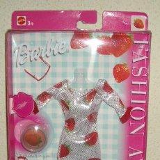 Barbie y Ken: VESTIDO BARBIE FASHION AVENUE,MATTEL,AÑO 2002,BLISTER ORIGINAL,A ESTRENAR. Lote 22284987