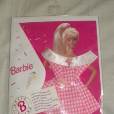 Barbie y Ken: BARBIE,FASHION AND GREETING CARD,TARJETA DE FELICITACION CON VESTIDO,AÑO 1995,MATTEL,A ESTRENAR. Lote 22542403