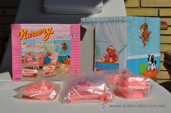 preciosa habitacin beb completa para barbie muchos accesorios
