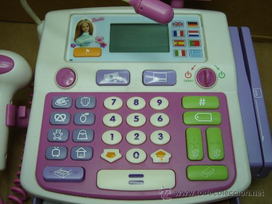 CAJA REGISTRADORA ELECTRONICA DE BARBIE - MATTEL 2003 - ¡¡¡ FUNCIONANDO ¡¡¡ + ACCESORIOS (Juguetes - Muñeca Extranjera Moderna - Barbie y Ken - Vestidos y Accesorios)