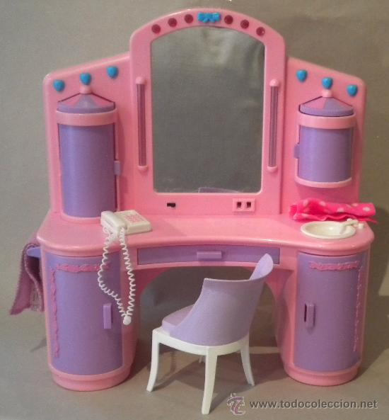 muebles barbie. tocador. silla, toallas. funcio - Comprar Barbie y ...