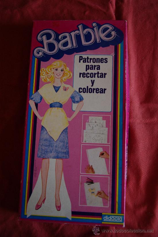 juego de patrones para recortar y colorear de l - Comprar Barbie y ...