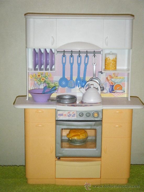 Cocina de barbie con nevera y fregadera comprar barbie y for Accesorios de cocina online