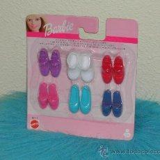 Barbie y Ken: BARBIE - BLISTER DE 6 PARES DE ZAPATOS. A ESTRENAR.. Lote 32425660