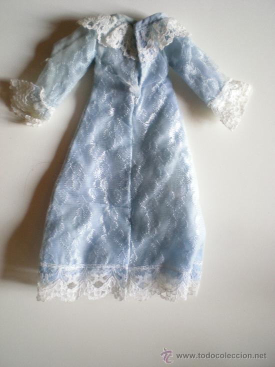 Barbie y Ken: antiguo vestido de barbie azul con puntillas blanca original de sus años 60 - Foto 2 - 33617345