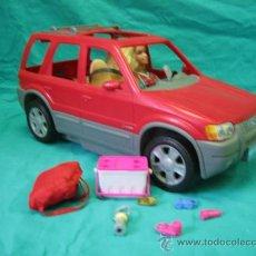 Barbie y Ken: MUÑECA BARBIE CON COCHE. Lote 56859650