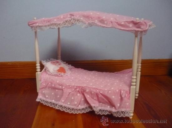 cama con dosel de barbie aos