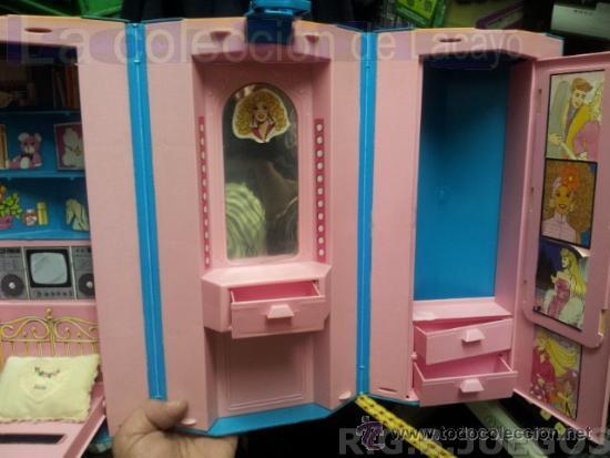 MALETIN MALETA CASA DORMITORIO BARBIE AÑO 1981 (Juguetes - Muñeca Extranjera Moderna - Barbie y Ken - Vestidos y Accesorios)