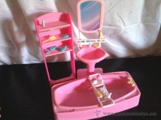 Ba era lavabo espejo estanteria de barbie comprar barbie y ken vestidos y accesorios - Accesorios para baneras ...
