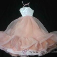 Barbie y Ken: PRECIOSO VESTIDO LARGO DE FIESTA DE CONGOST .BARBIE CREAM COLOR SALMÓN.ORIGINAL.. Lote 41840360