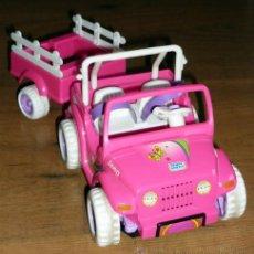 Barbie y Ken: JEEP CON REMOLQUE DE SHELLY . ORIGINAL BARBIE 1997 .FUNCIONANDO VER FOTOS. Lote 39697968