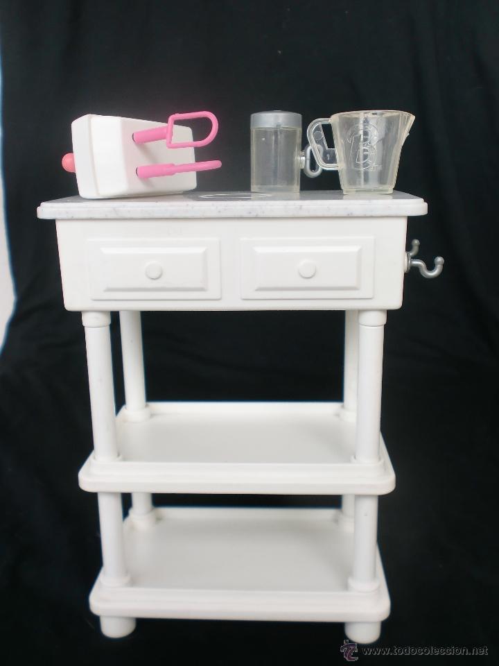 batidora, accesorios y mueble de cocina barbie - Comprar Barbie y ...