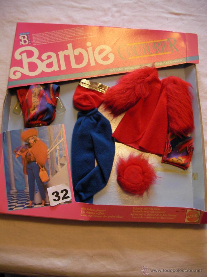 ANTIGUA CAJA BLISTER CONJUNTO BARBIE COUTURIER (Juguetes - Muñeca Extranjera Moderna - Barbie y Ken - Vestidos y Accesorios)