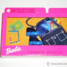 Barbie y Ken: ACCESORIO BARBIE FASHION AVENUE BOLSO Y ZAPATILLAS - ARTICULO NUEVO. Lote 70543042