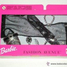 Barbie y Ken: ACCESORIO BARBIE FASHION AVENUE COLLAR FULAR BOLSO NEGRO MATTEL - ARTICULO NUEVO. Lote 146903344