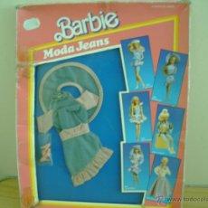 Barbie y Ken: VESTIDO DE BARBIE MODA JEANS TEJANO EN CAJA. Lote 44871702