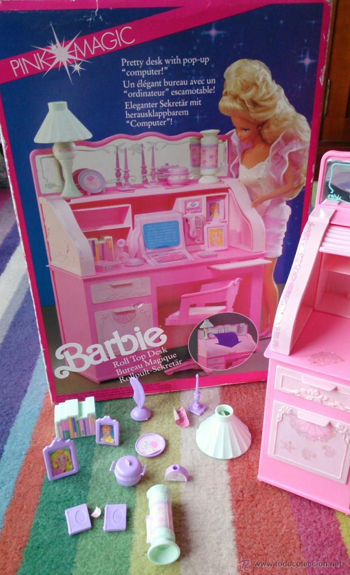 BARBIE SWEET ROSES ESCRITORIO BUREAU MÁGICO MATTEL ORIGINAL 1991 (Juguetes - Muñeca Extranjera Moderna - Barbie y Ken - Vestidos y Accesorios)