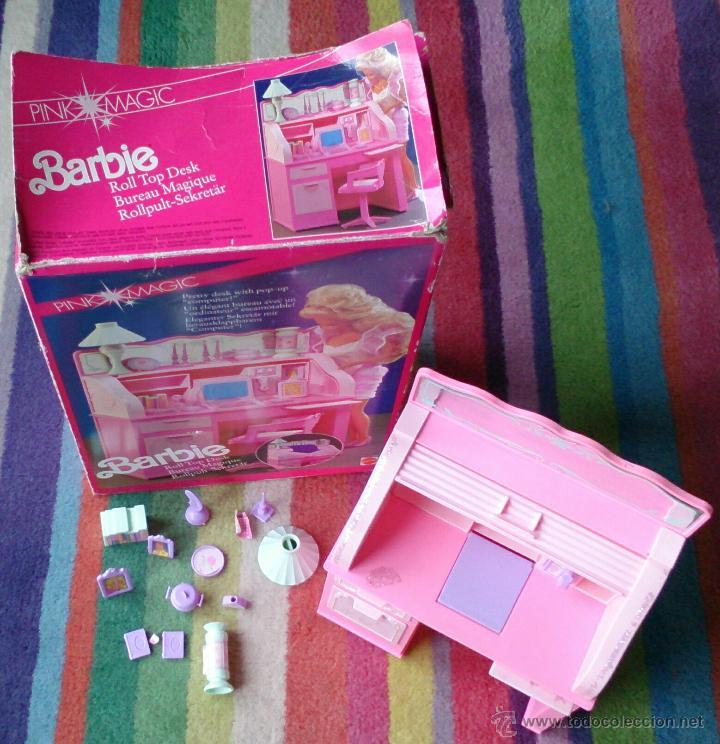 Barbie y Ken: Barbie Sweet Roses escritorio Bureau mágico Mattel original 1991 - Foto 2 - 158951520