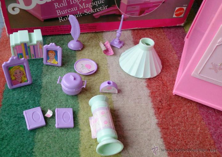 Barbie y Ken: Barbie Sweet Roses escritorio Bureau mágico Mattel original 1991 - Foto 3 - 158951520