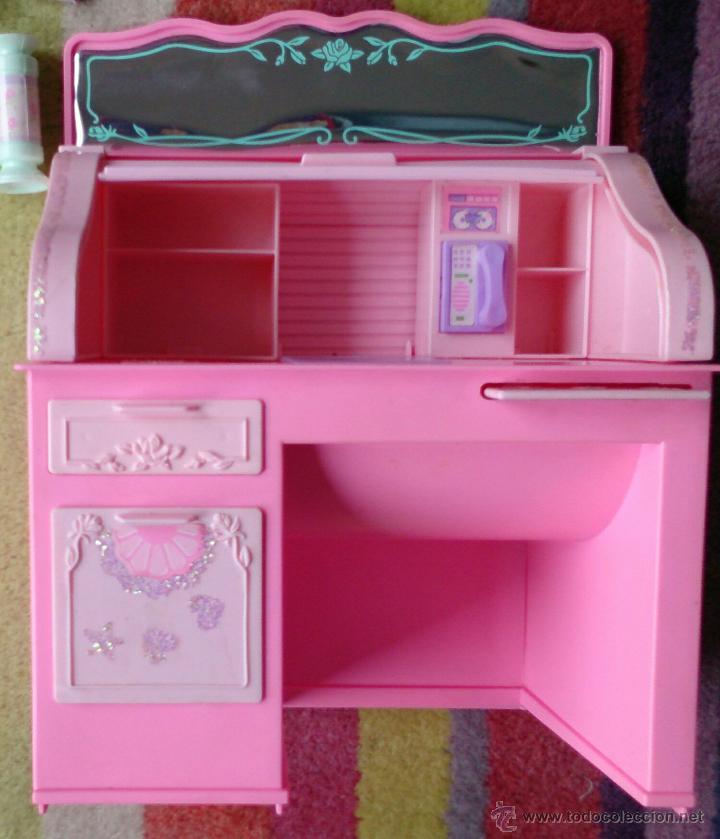 Barbie y Ken: Barbie Sweet Roses escritorio Bureau mágico Mattel original 1991 - Foto 4 - 158951520