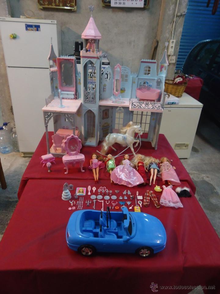 lote barbie mattel castillo casa de muñecas cab - Comprar Barbie y ...