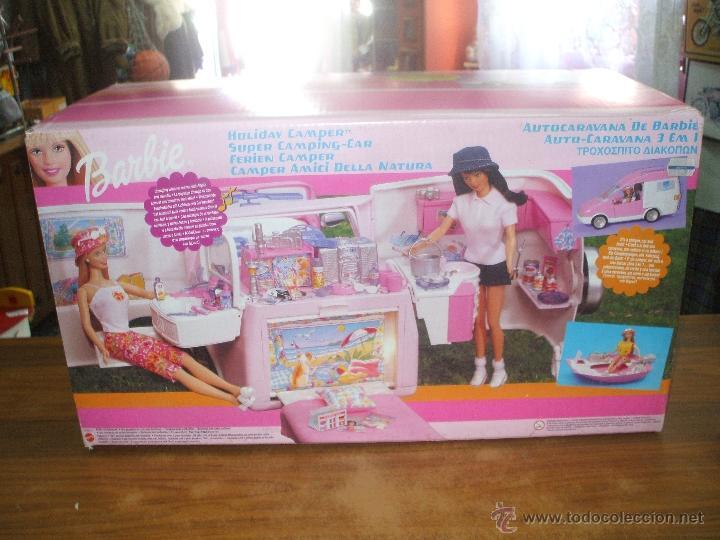 AUTO CARAVANA DE BARBIE ,ESTA NUEVA SIN ESTRENAR EN DE 2004-5 (VER FOTOS Y LEER DESCRIPCION) (Juguetes - Muñeca Extranjera Moderna - Barbie y Ken - Vestidos y Accesorios)