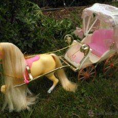 Barbie y Ken: CARROZA DE BARBIE CRYSTAL Y CABALLO DE MATTEL, AÑO 1993. Lote 51331049