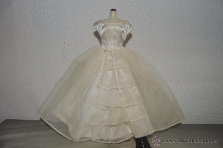 PRECIOSO Y ANTIGUO VESTIDO DE NOVIA DE MUÑECA BARBIE VINTAGE WEDDING DRESS PFS (Juguetes - Muñeca Extranjera Moderna - Barbie y Ken - Vestidos y Accesorios)