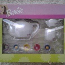 Barbie y Ken: BARBIE -- JUEGO DE PORCELANA DE CAFÉ ORIGINAL -- EN SU BLISTER/CAJA. Lote 54928010